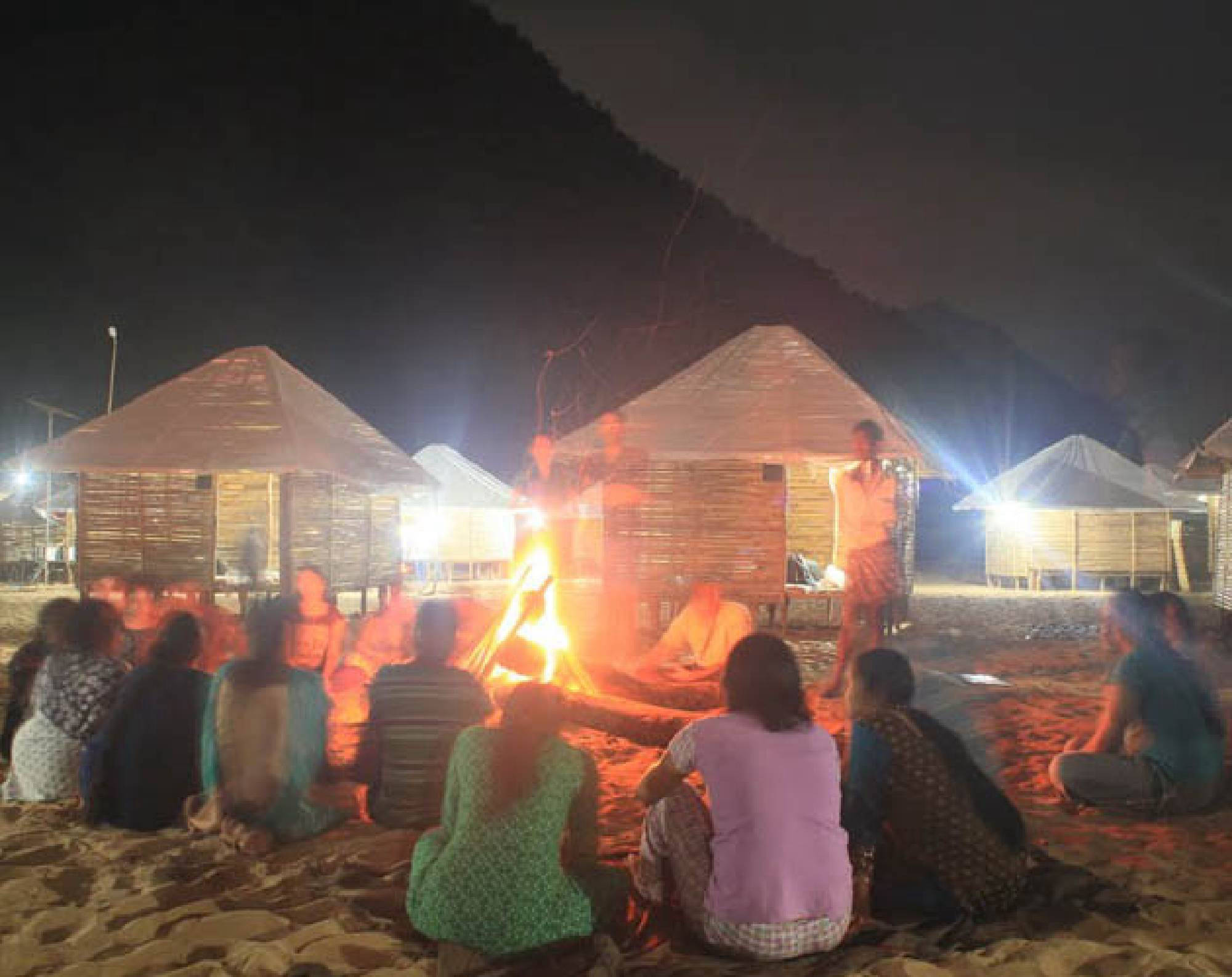 Campfire At Kolluru Huts